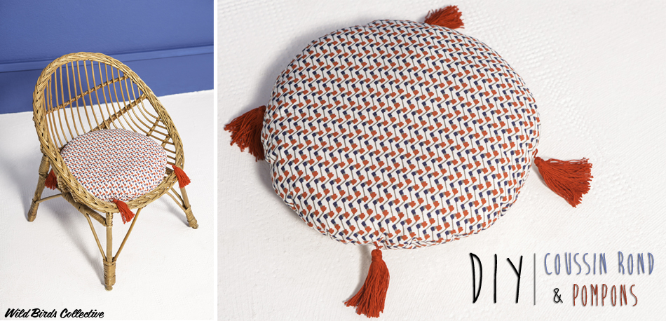 diy faire un coussin 224 pompons birds collective