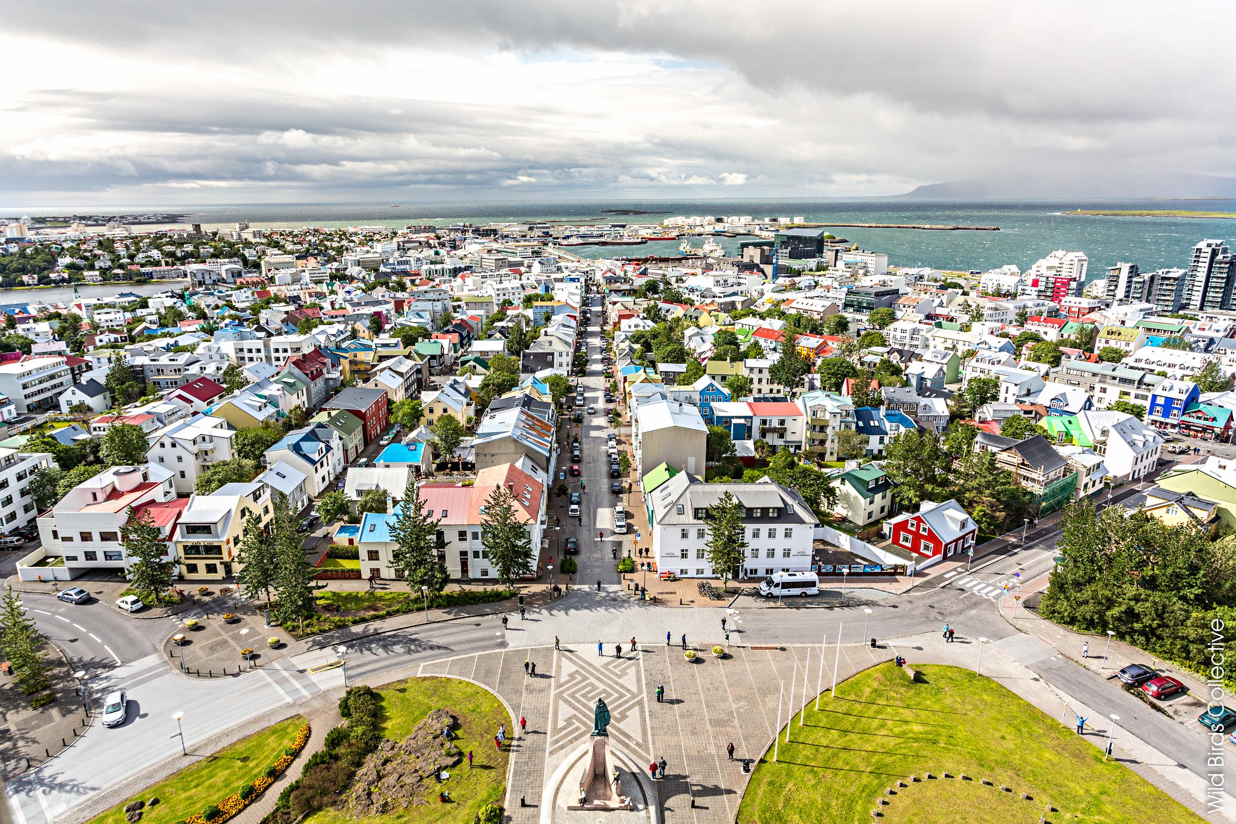 Centre ville de Reykjavik en Islande