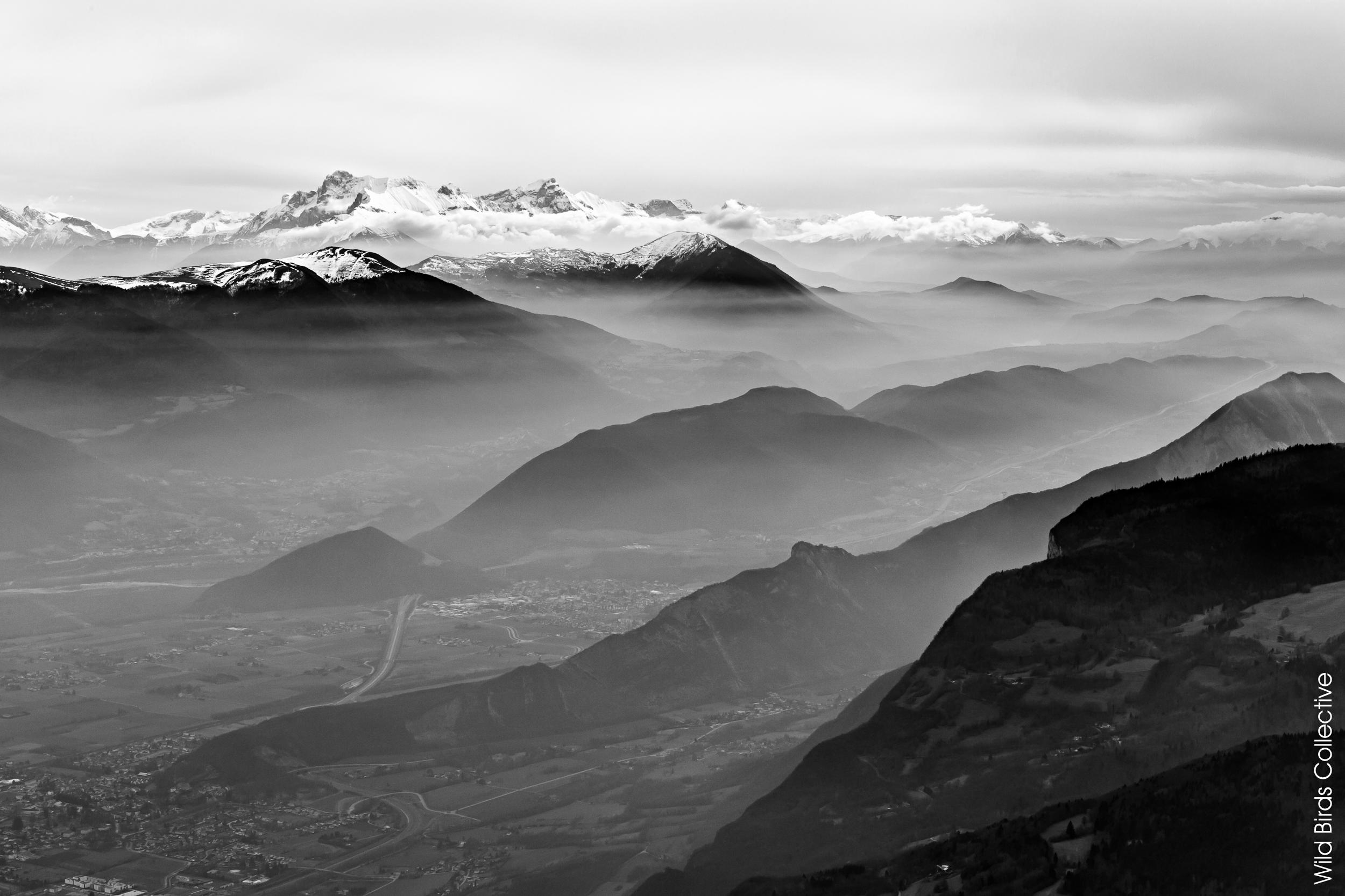 Vue sur les Alpes depuis le Moucherotte