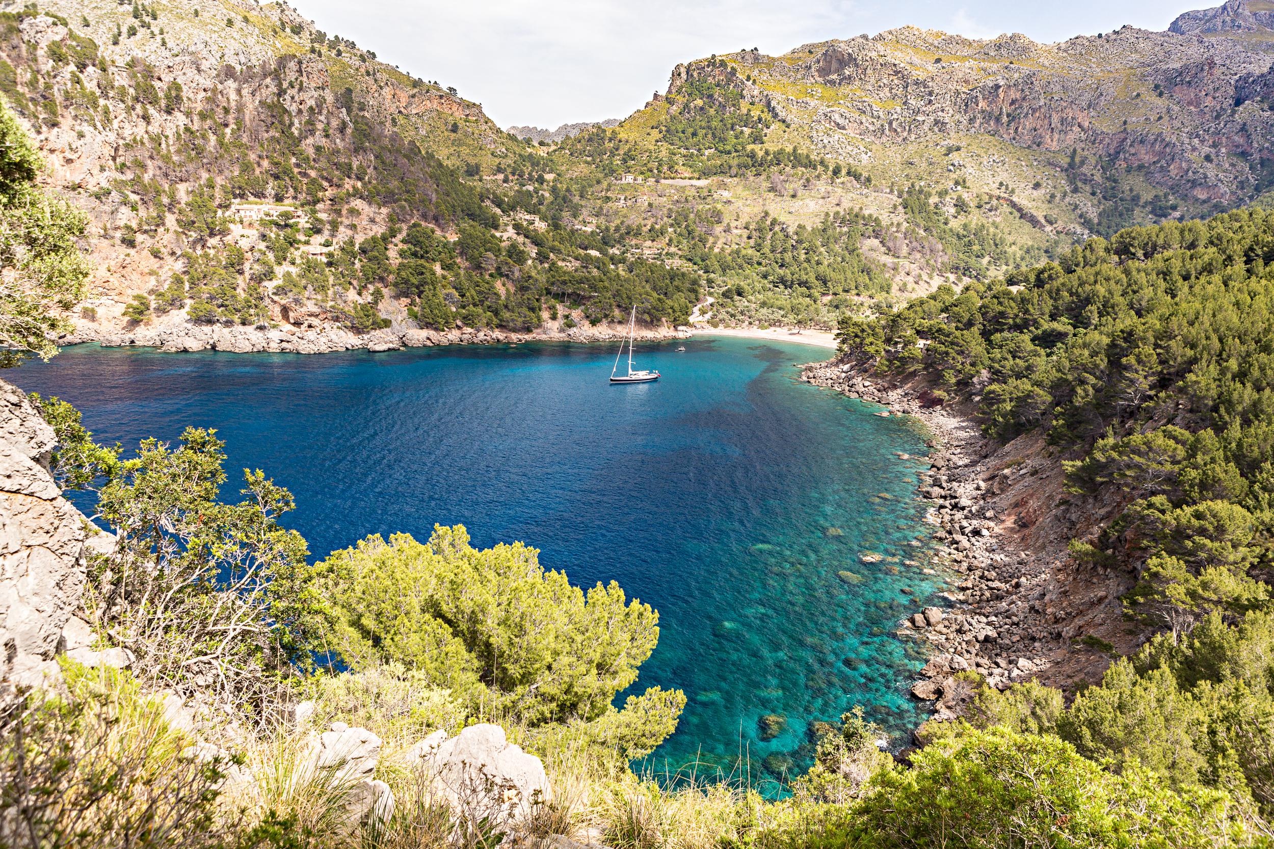 Crique de Cala Tuent à Majorque