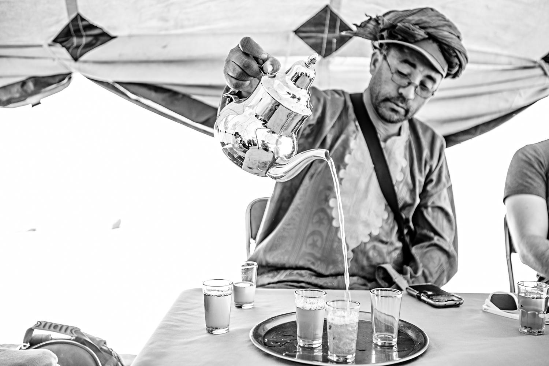 Cérémonie du thé au Maroc