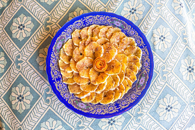 Salade d'oranges au Maroc