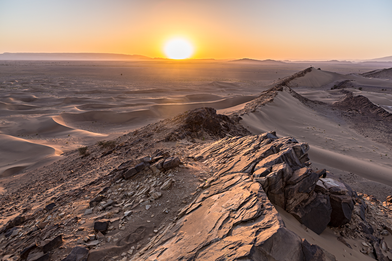 Sunset à Foum Tizza au Maroc