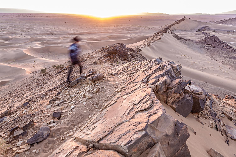 Coucher de soleil au Maroc