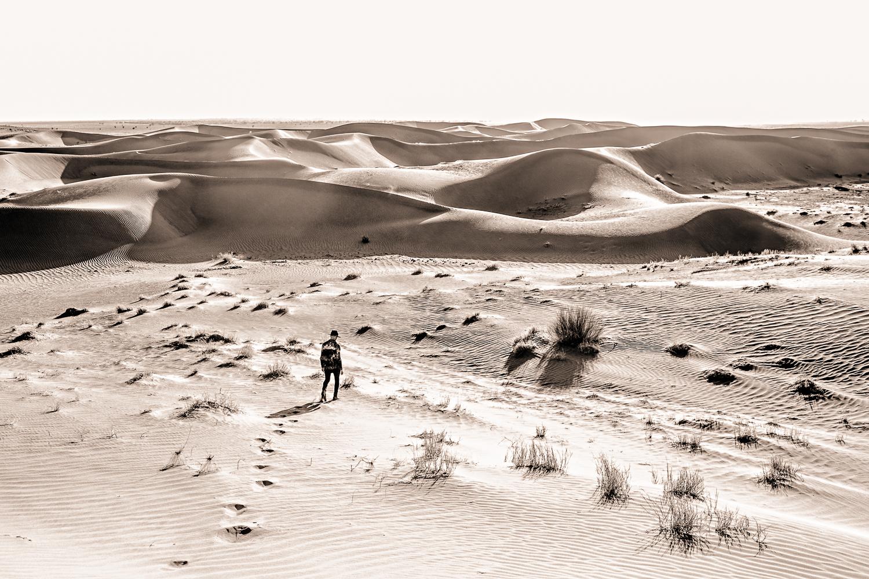 Randonner dans le dunes au Maroc