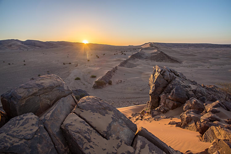 Lever de soleil au Maroc