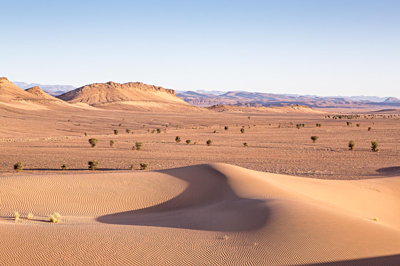 Vallée désertique au Maroc