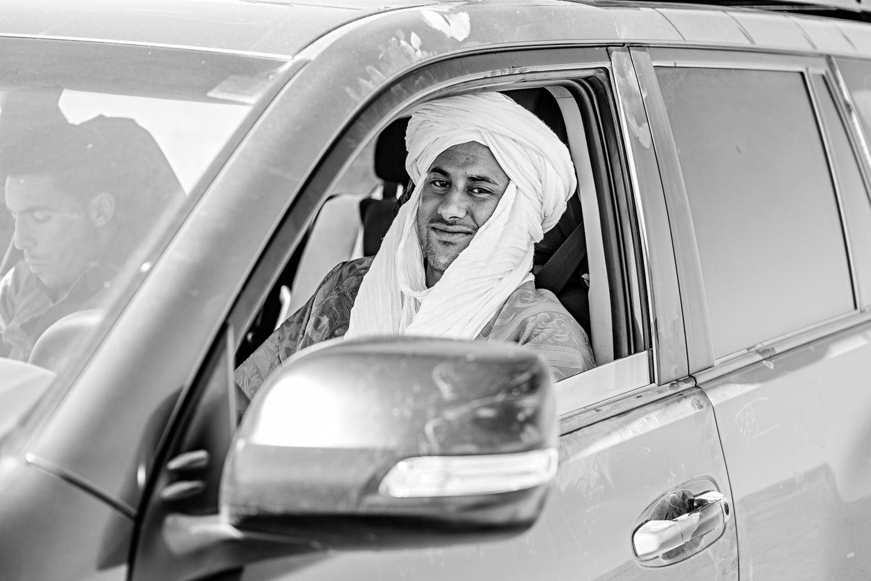 Chauffeur marocain dans un 4x4