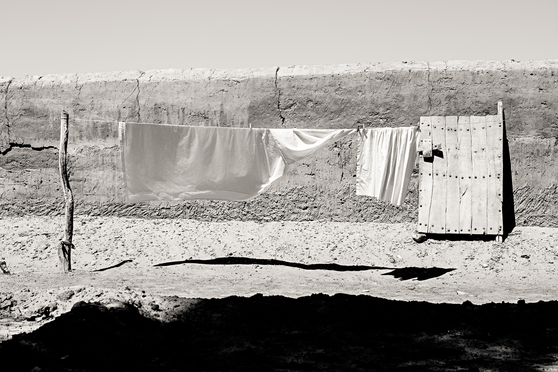 Linge du camp Saredrar au Maroc