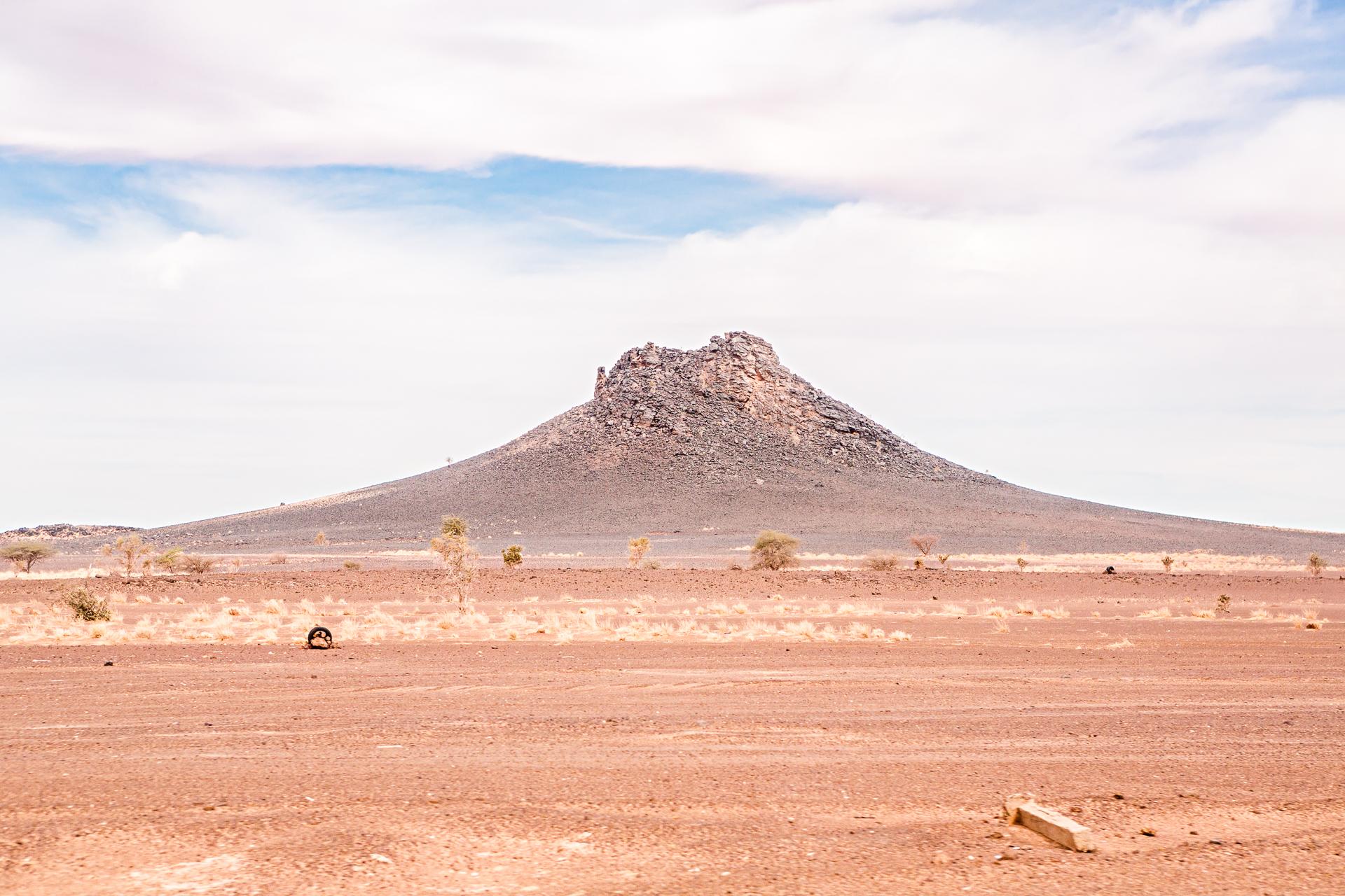 Montagne entre Nouakchott et Atar Mauritanie