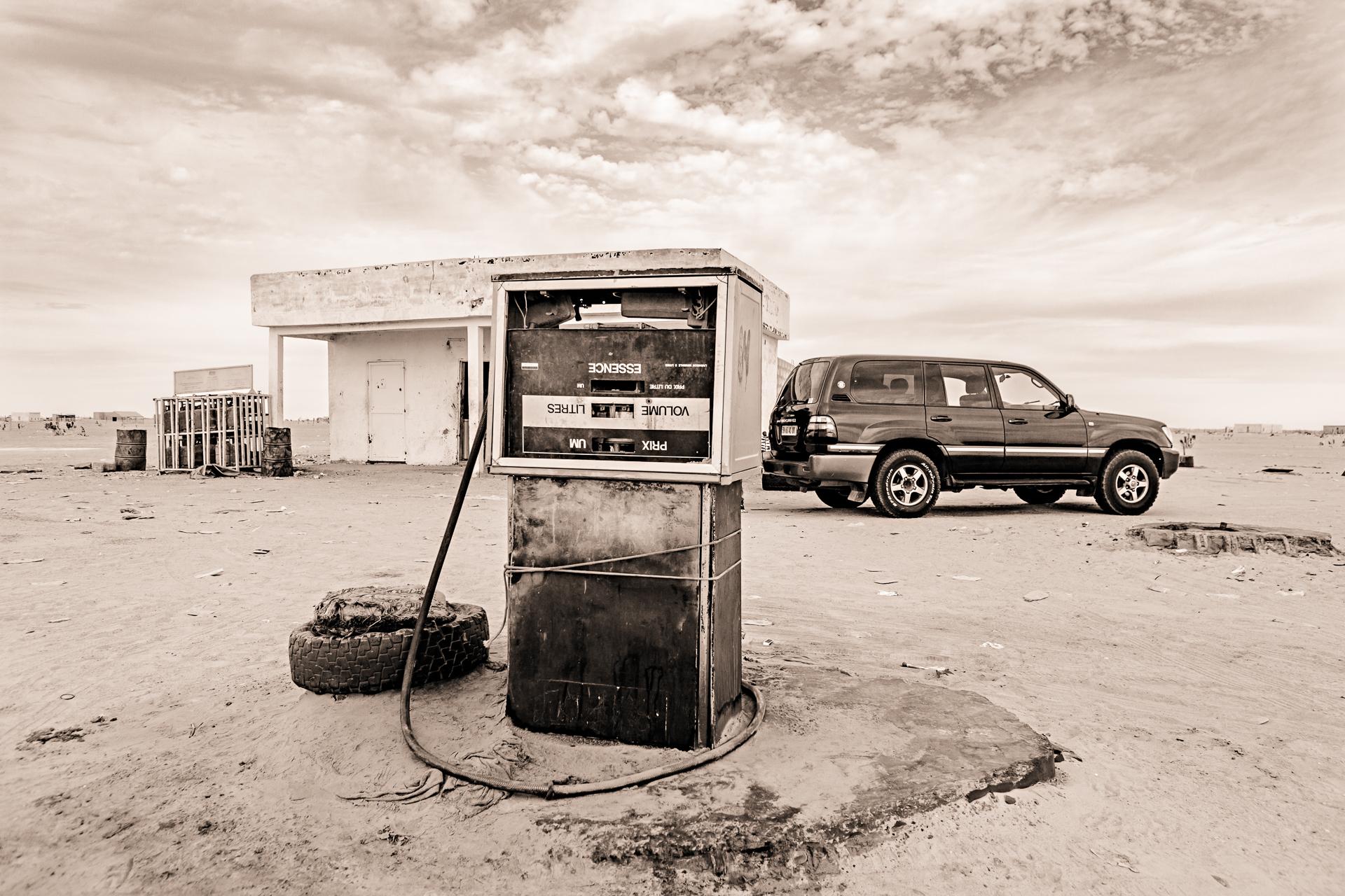 Station essence Nouakchott Atar Mauritanie