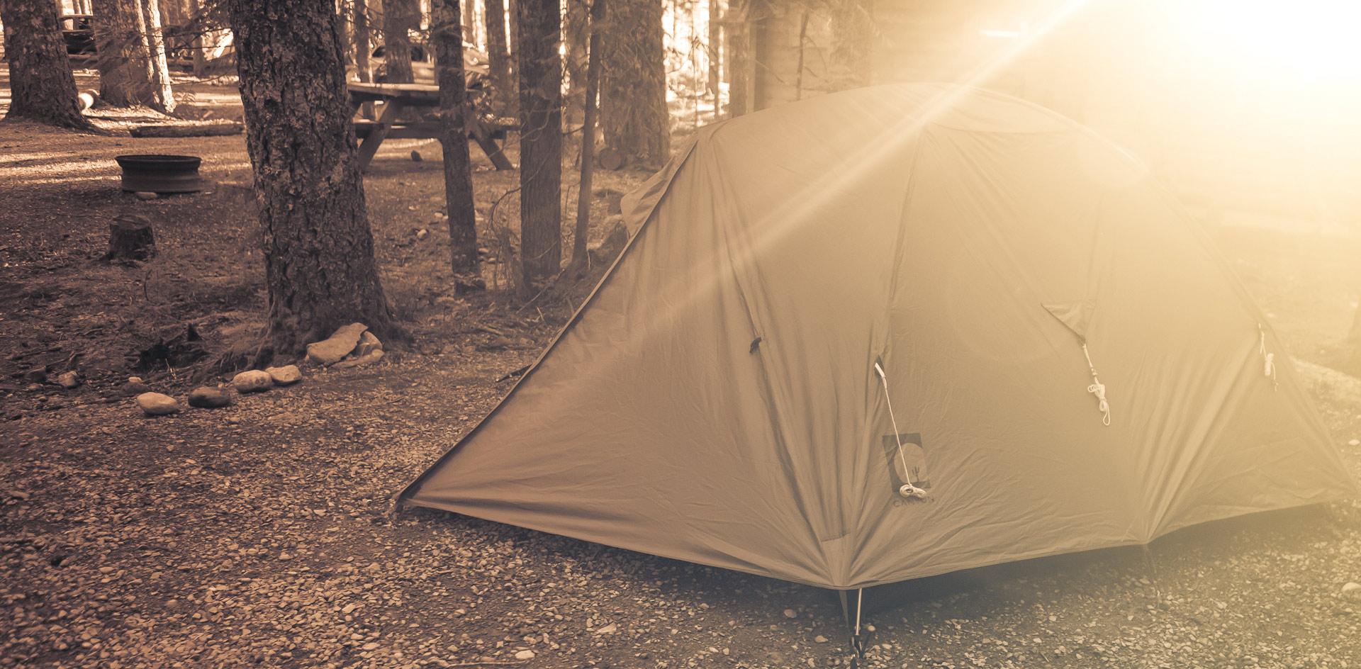 Camping dans l'ouest canadien