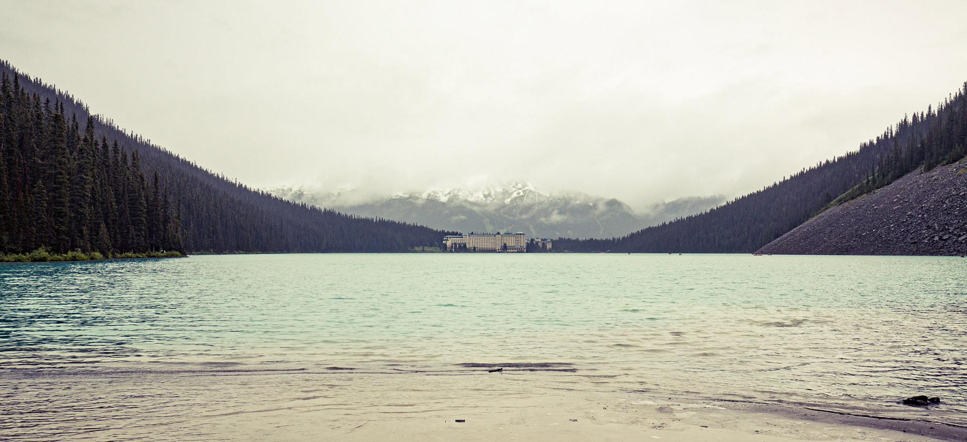 Hôtel Fairmont lac Louise parc Banff Canada