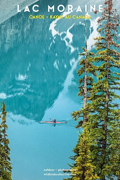 Canoë lac Morraine Banff Canada Ouest