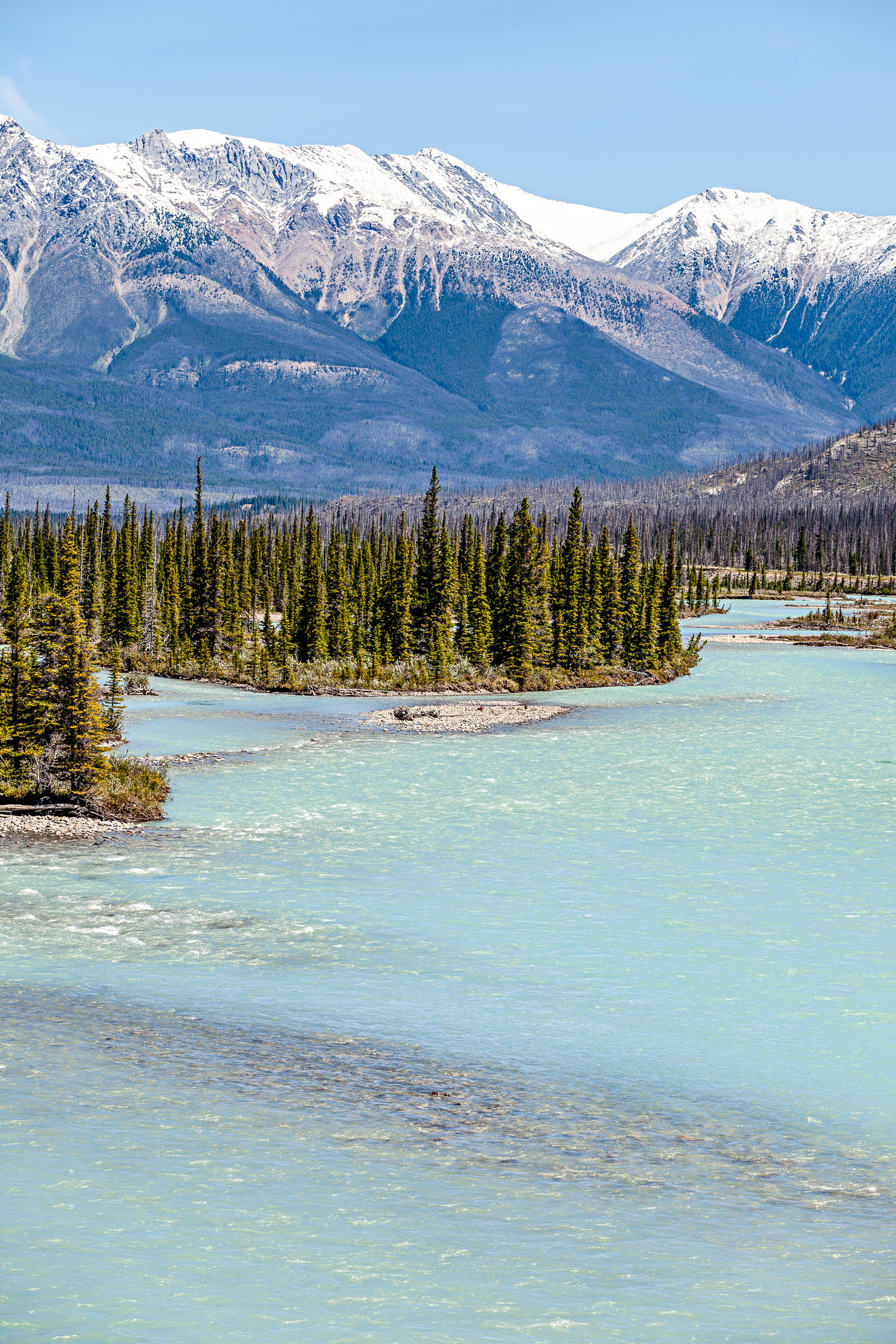 North Saskatchewan river promenade des Glaciers