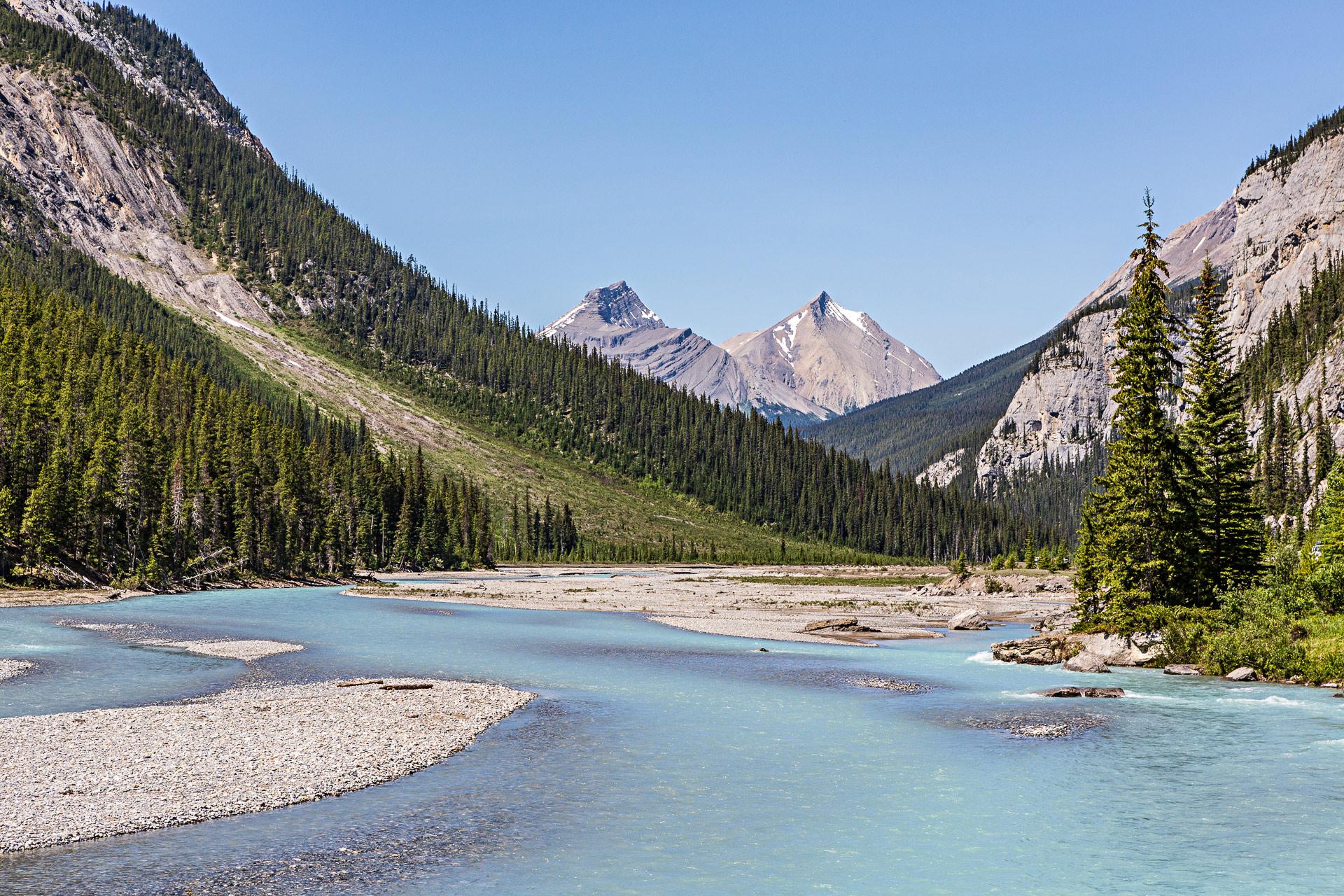 Saskatchewan river promenade des Glaciers Canada