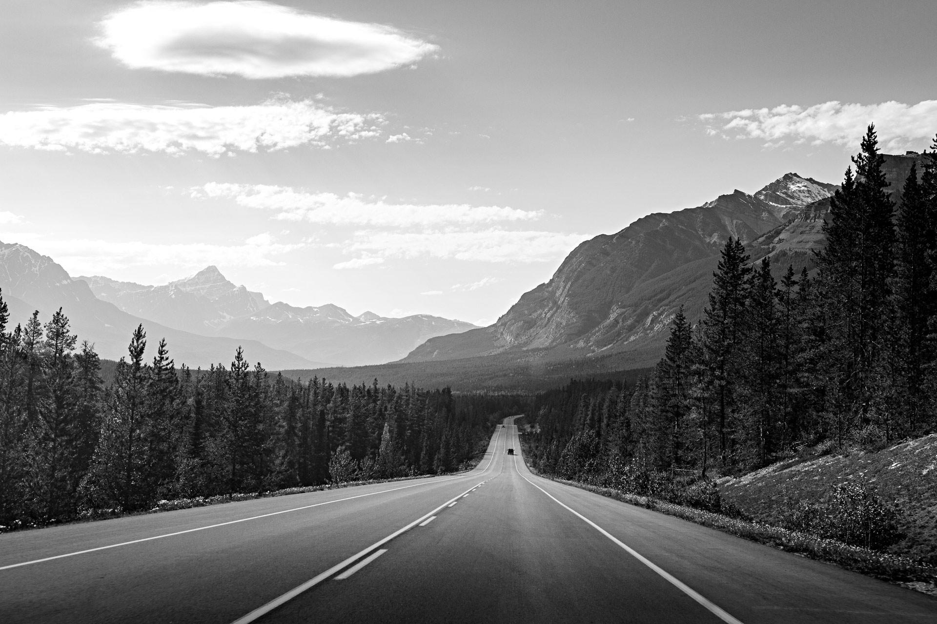 Road trip promenade des Glaciers Canada