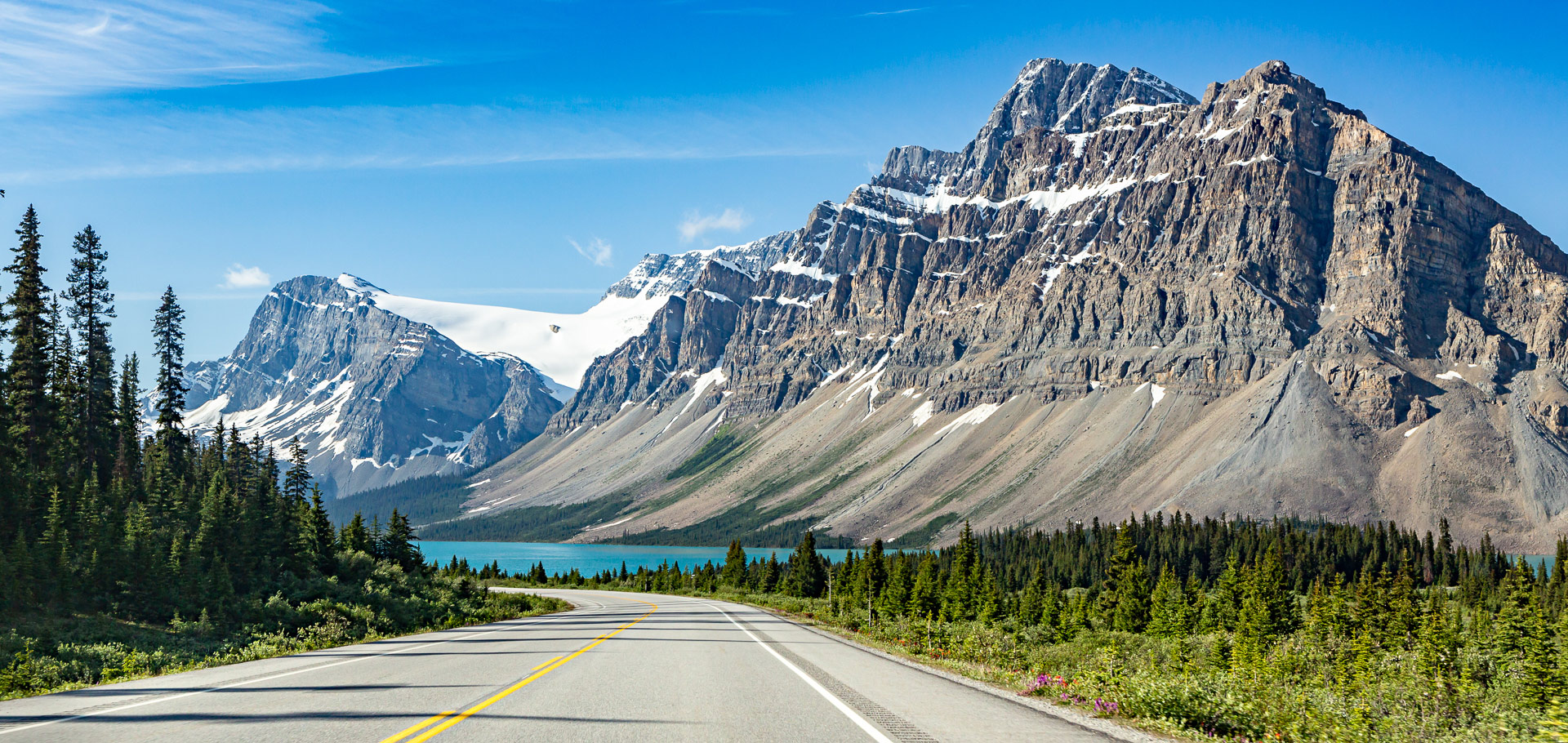 Lac Bow promenade des glaciers Canada