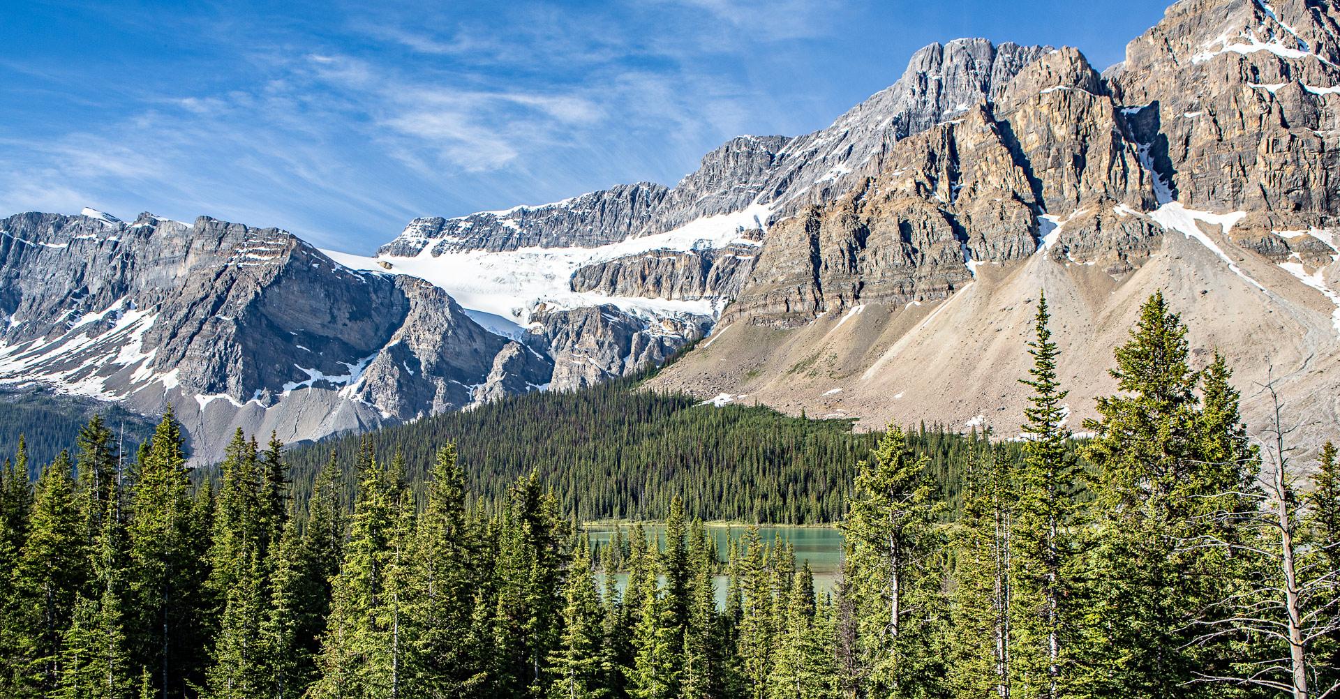 Glacier Crowfoot promenade des glaciers Canada