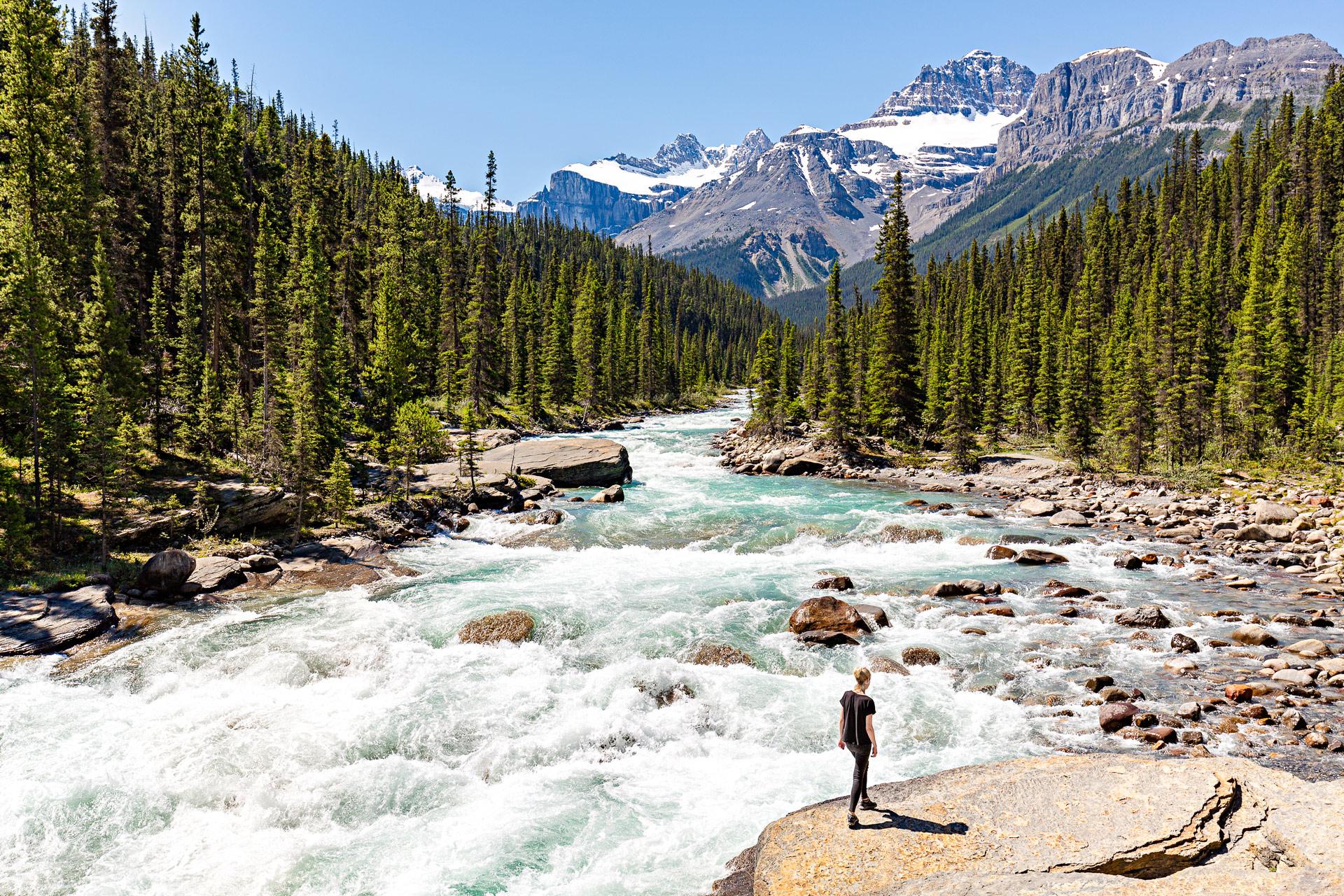 Rivière Mistaya promenade des Glaciers Canada