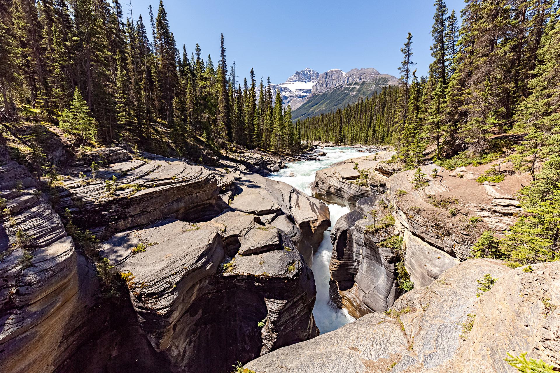 Mistaya Canyon promenade des Glaciers Canada