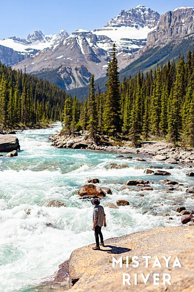 Mistaya River Alberta Canada