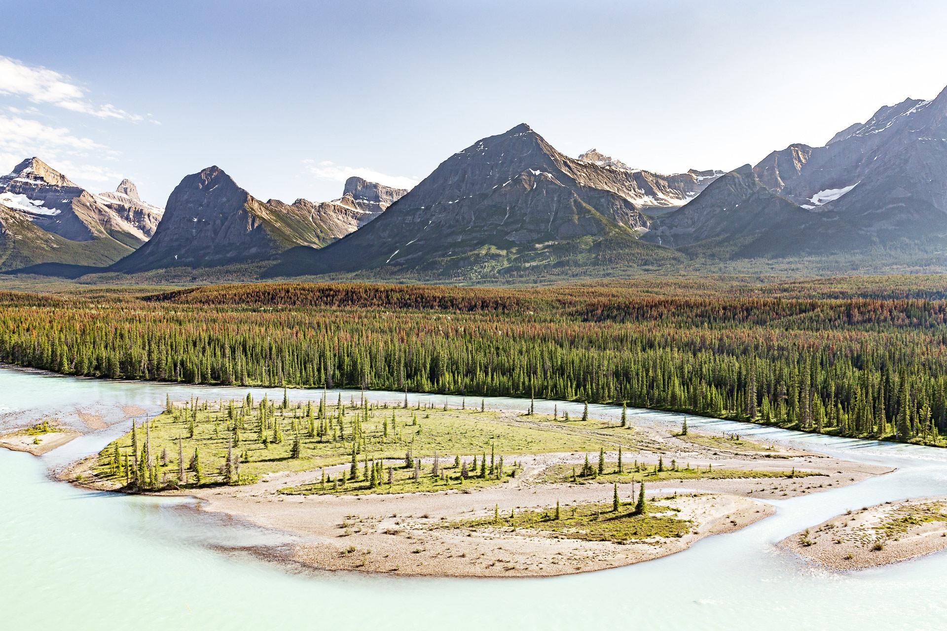 Rivière Saskatchewan promenade des Glaciers