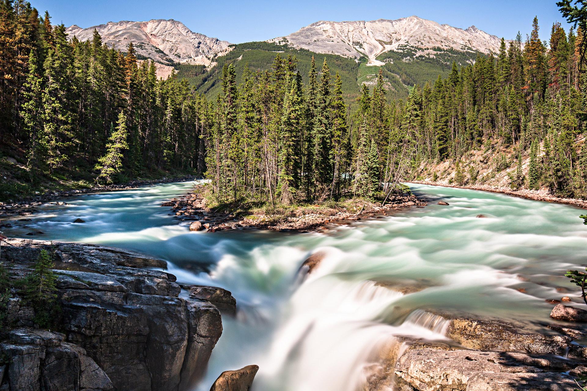 Sunwapta Falls promenade des Glaciers Canada