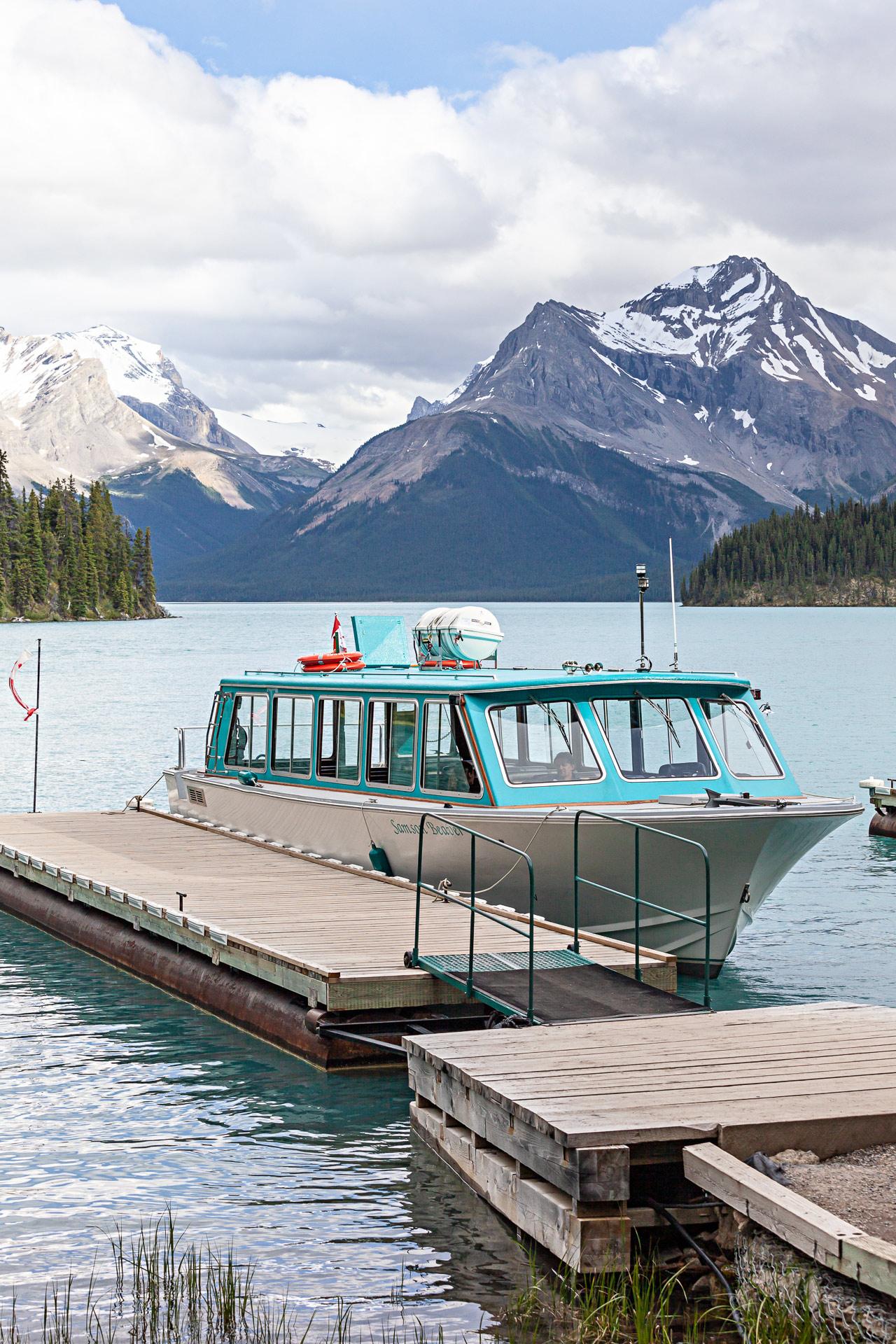 Bateau Spirit Island Lac Maligne Jasper