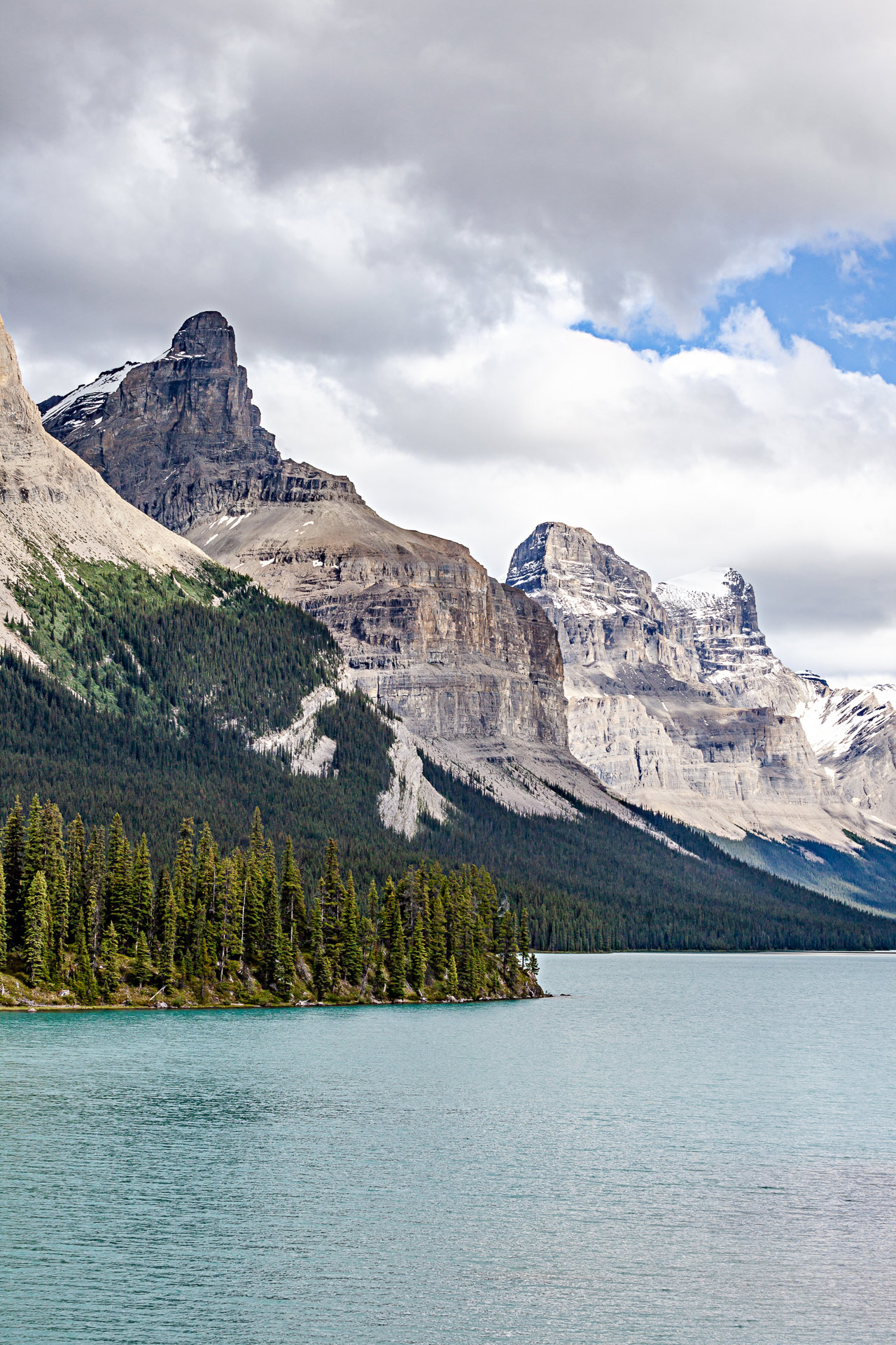 Lac Maligne Jasper Alberta Canada Ouest