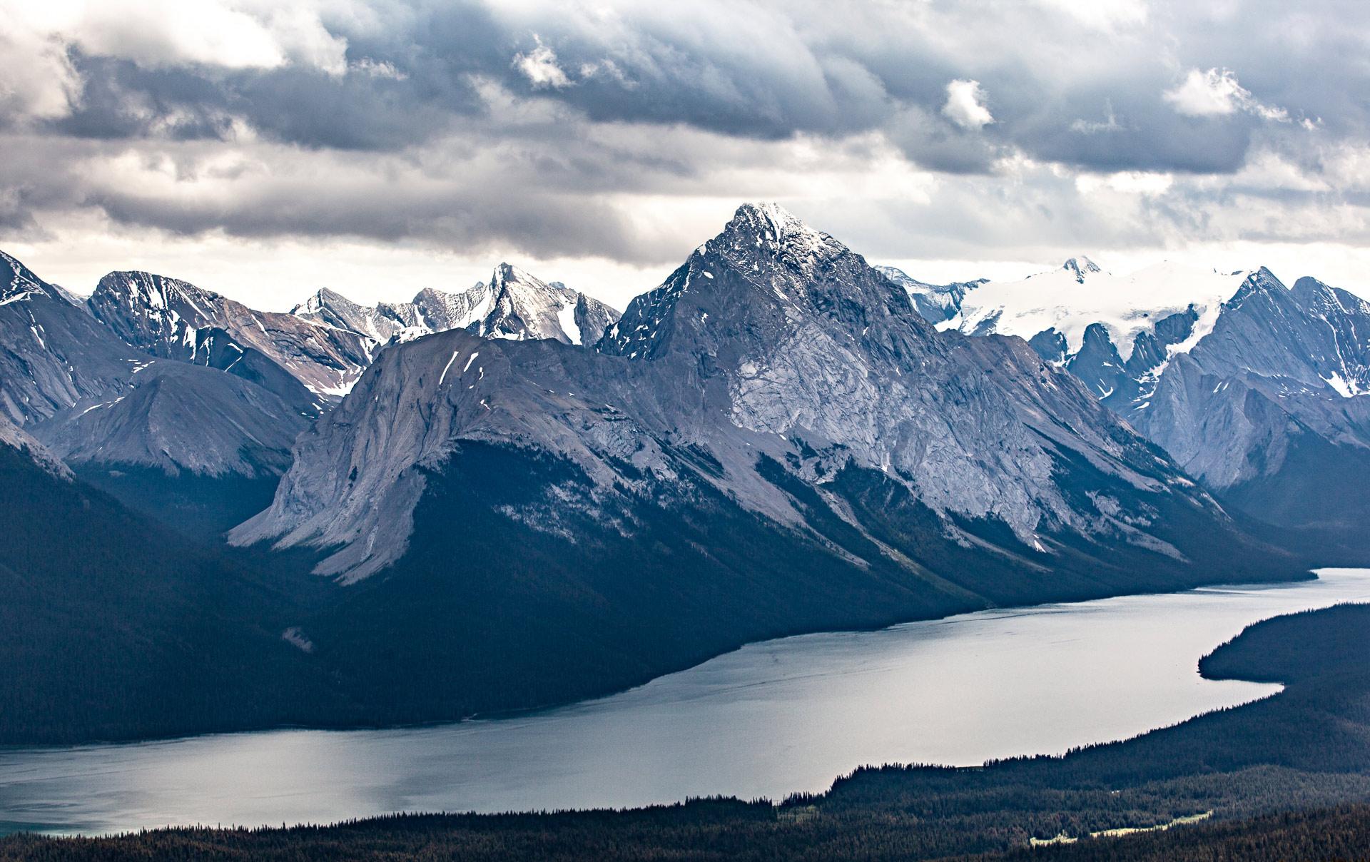 Pic Samson lac Maligne Jasper Canada