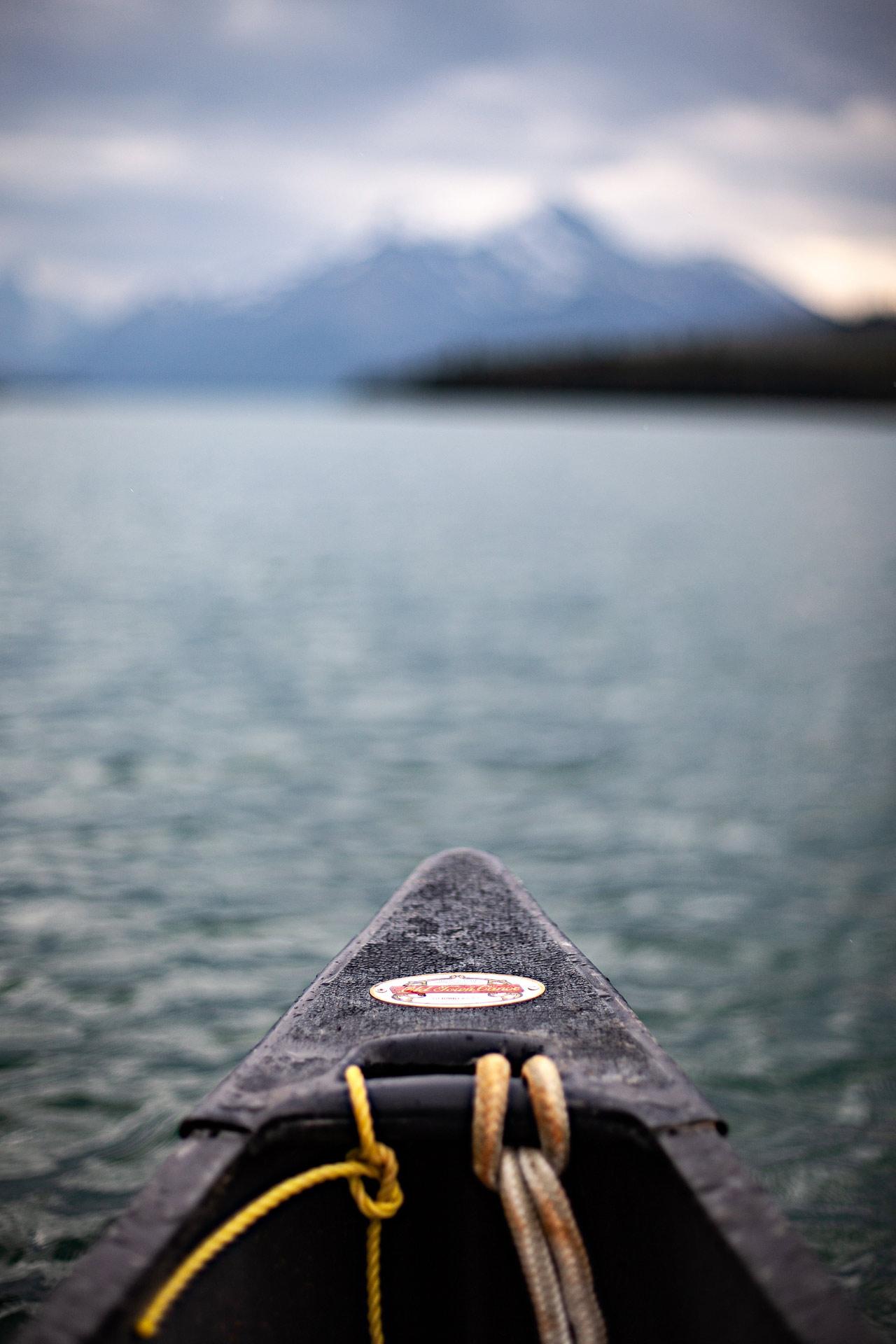 Canoë lac Maligne Jasper Canada