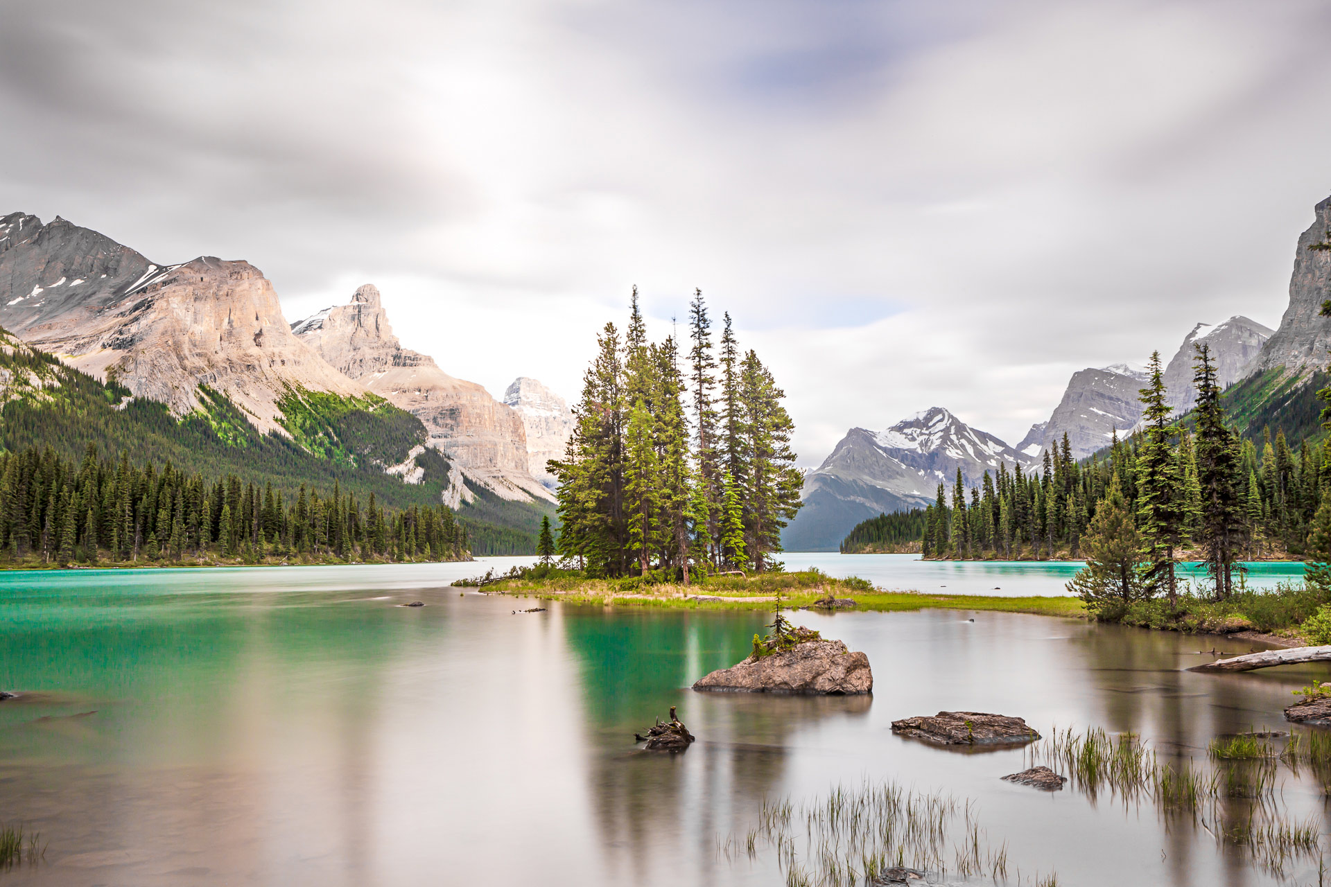 Spirit Island lac Maligne Jasper Canada