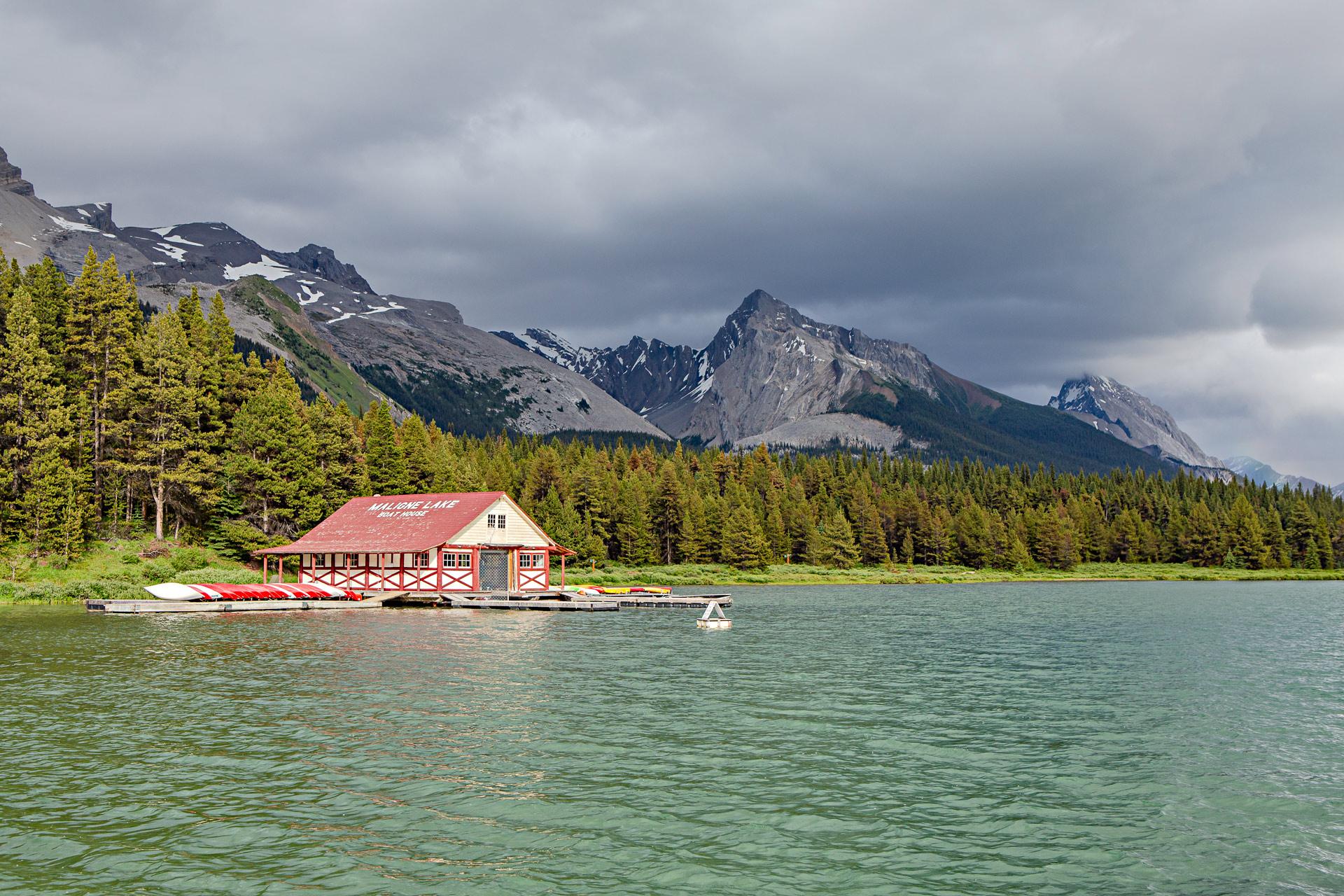 Maligne Lake Boat House Jasper Canada
