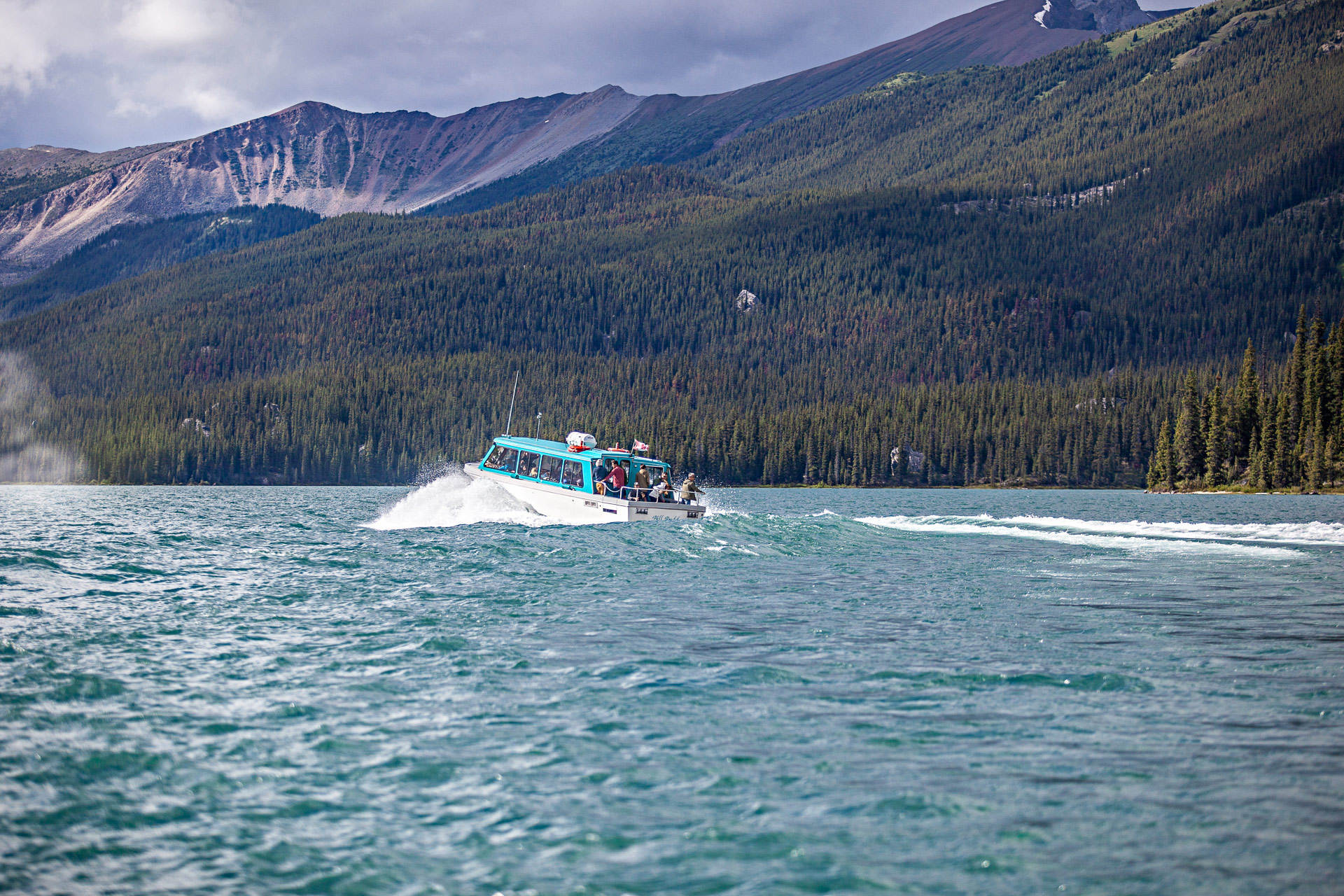 Bateau Maligne Lake Tour Jasper Canada