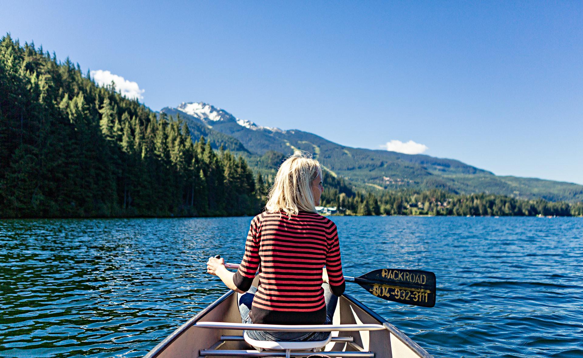 Canoë Alta Lake Colombie-Britannique Canada