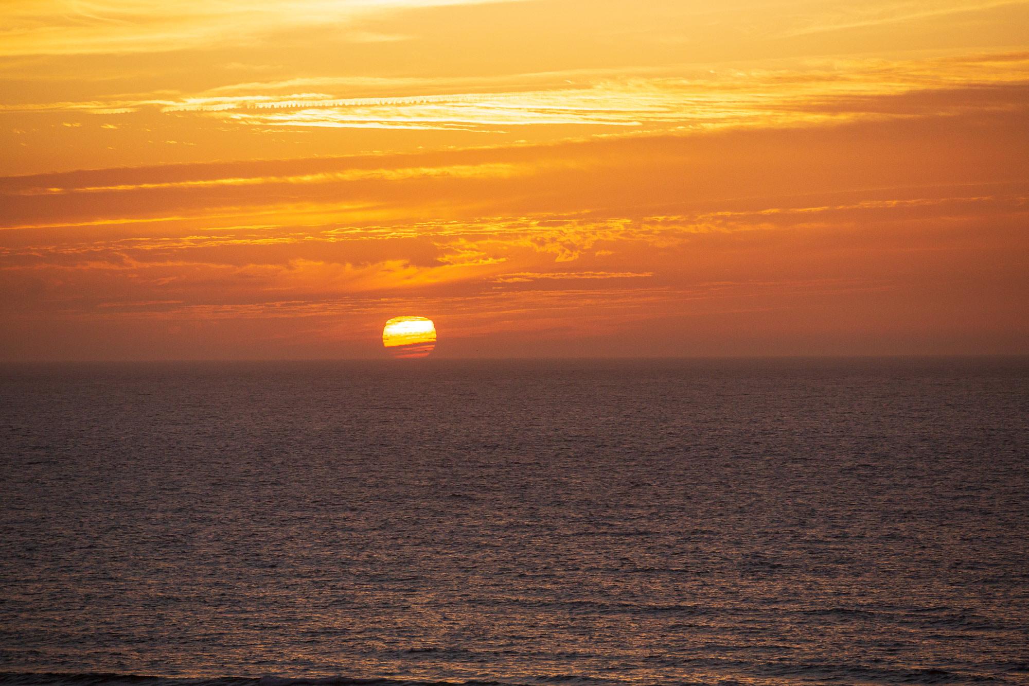 Trek au Maroc coucher de soleil