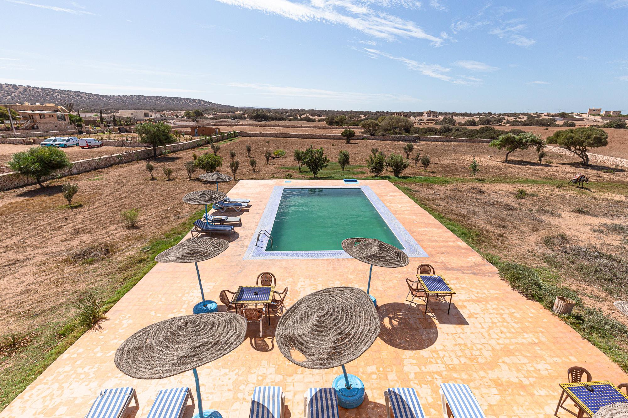 Trek Maroc Sidi Kaouki Dar Aalida piscine