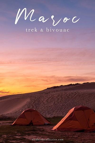 Trek au Maroc bivouac