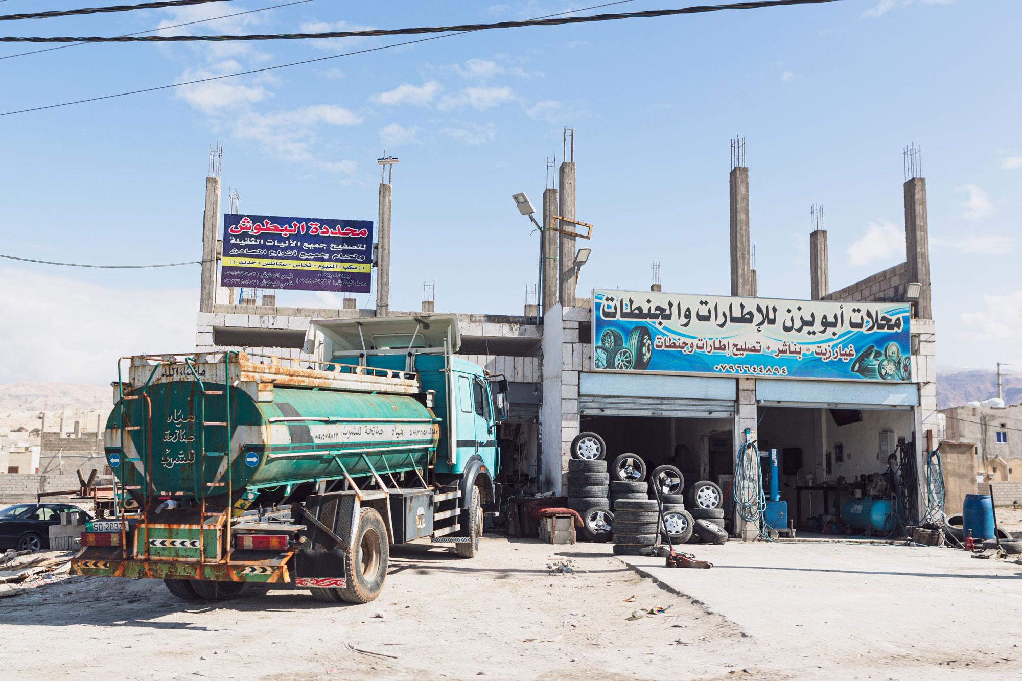 voyage en Jordanie Wadi Araba garage