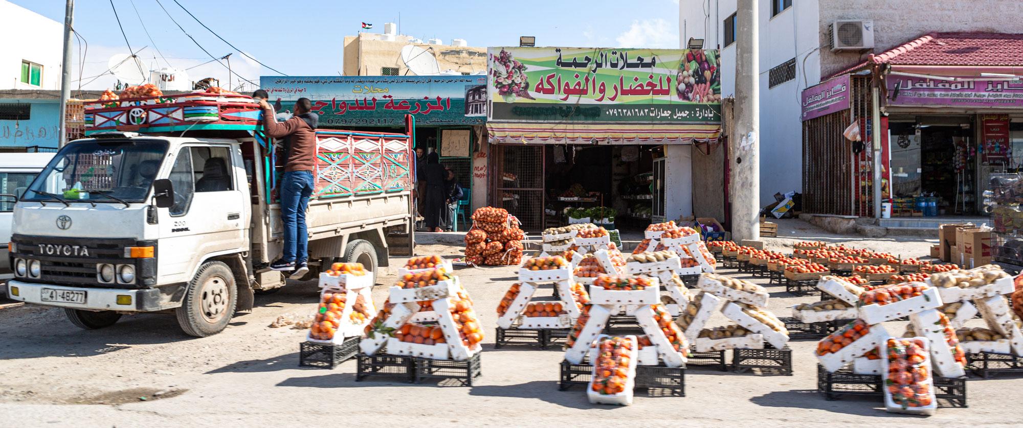 voyage en Jordanie fruits et légumes