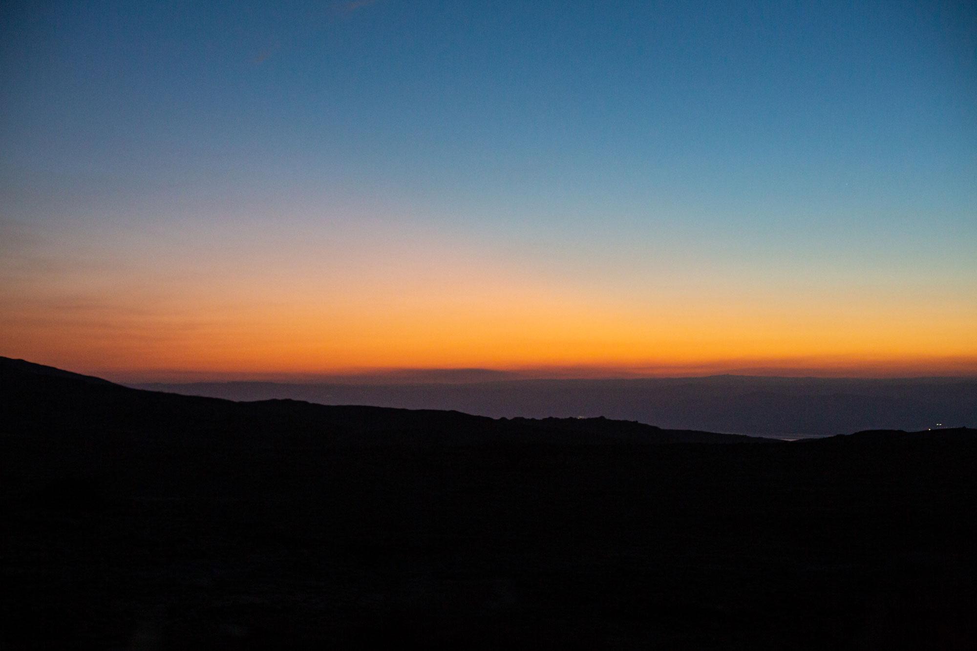 voyage en Jordanie coucher soleil