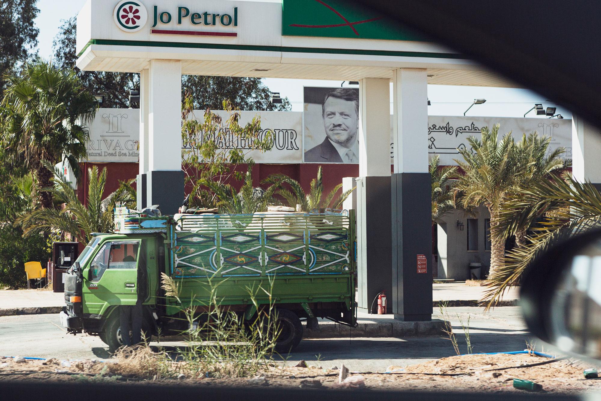 voyage en Jordanie station-essence