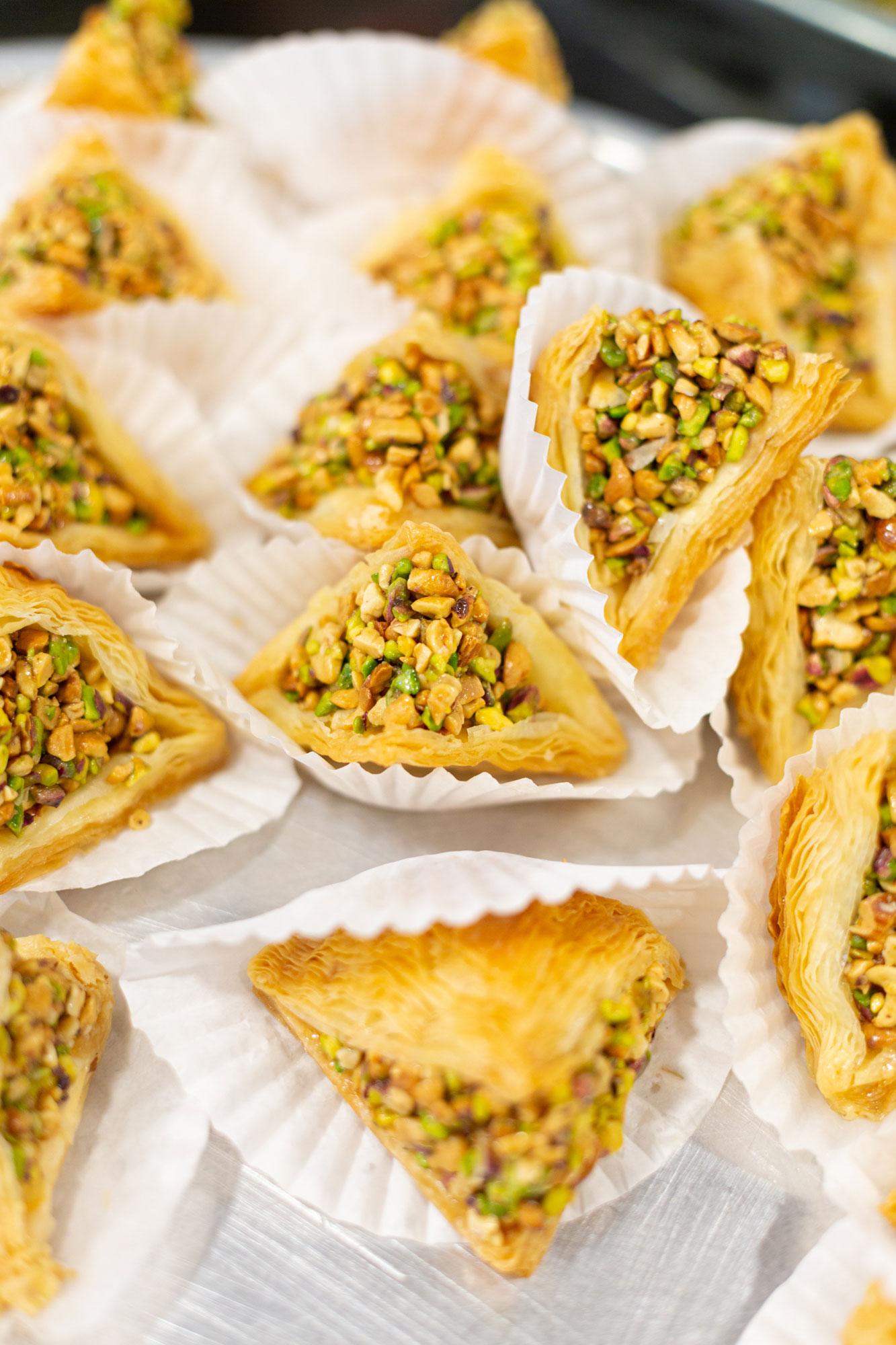 voyage en Jordanie baklawas pistaches