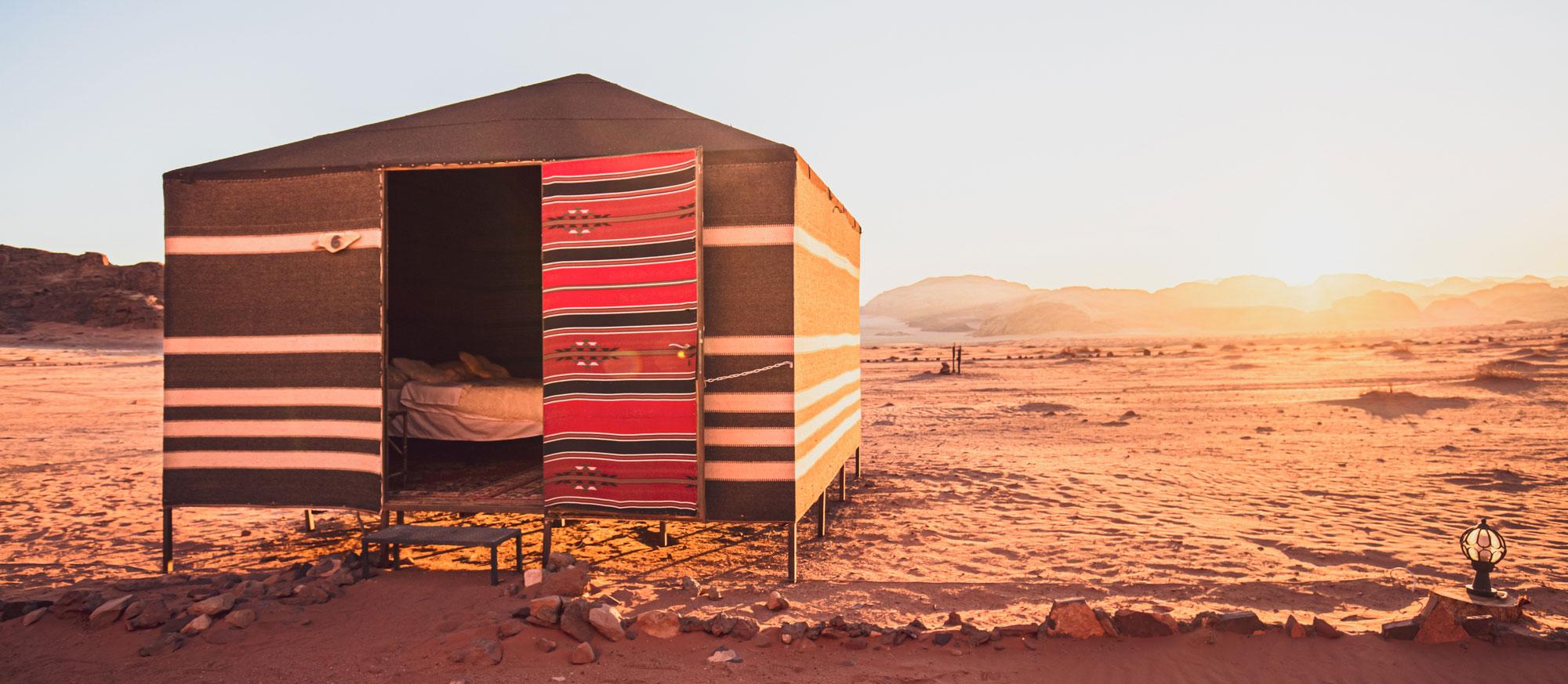 voyage en Jordanie Wadi Rum camp bédouin